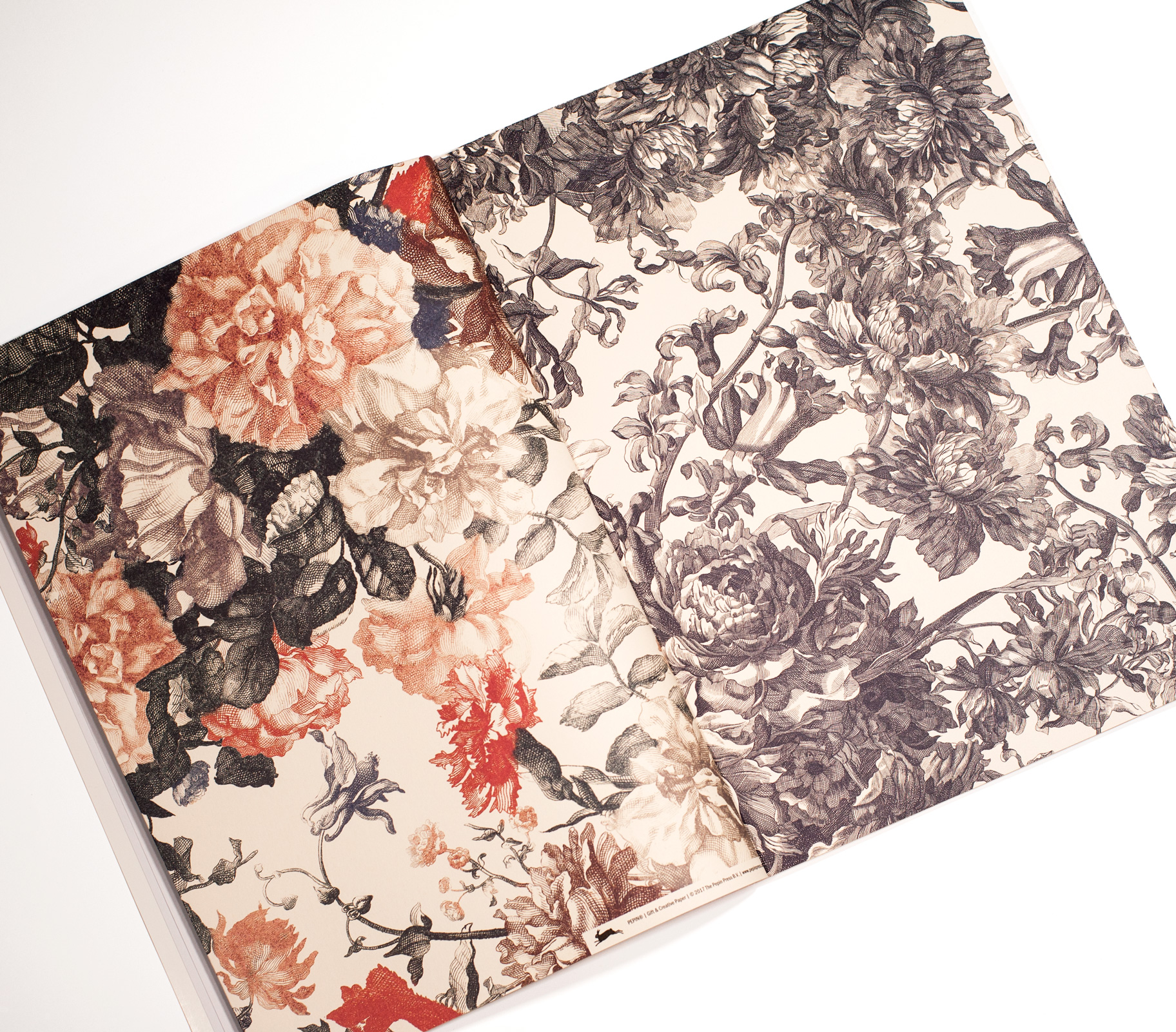 Floral Engravings Gift Creative Paper Book Paperme