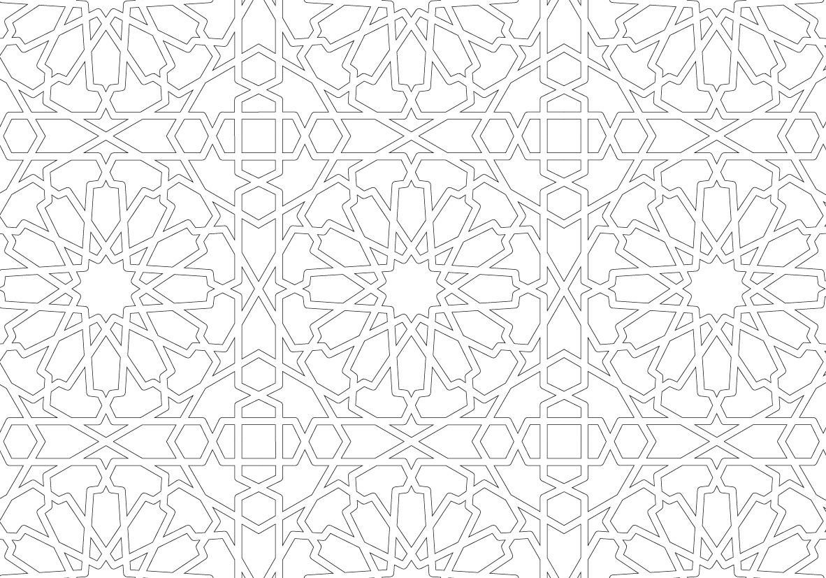 Arabian Designs Postcard Coloring Book