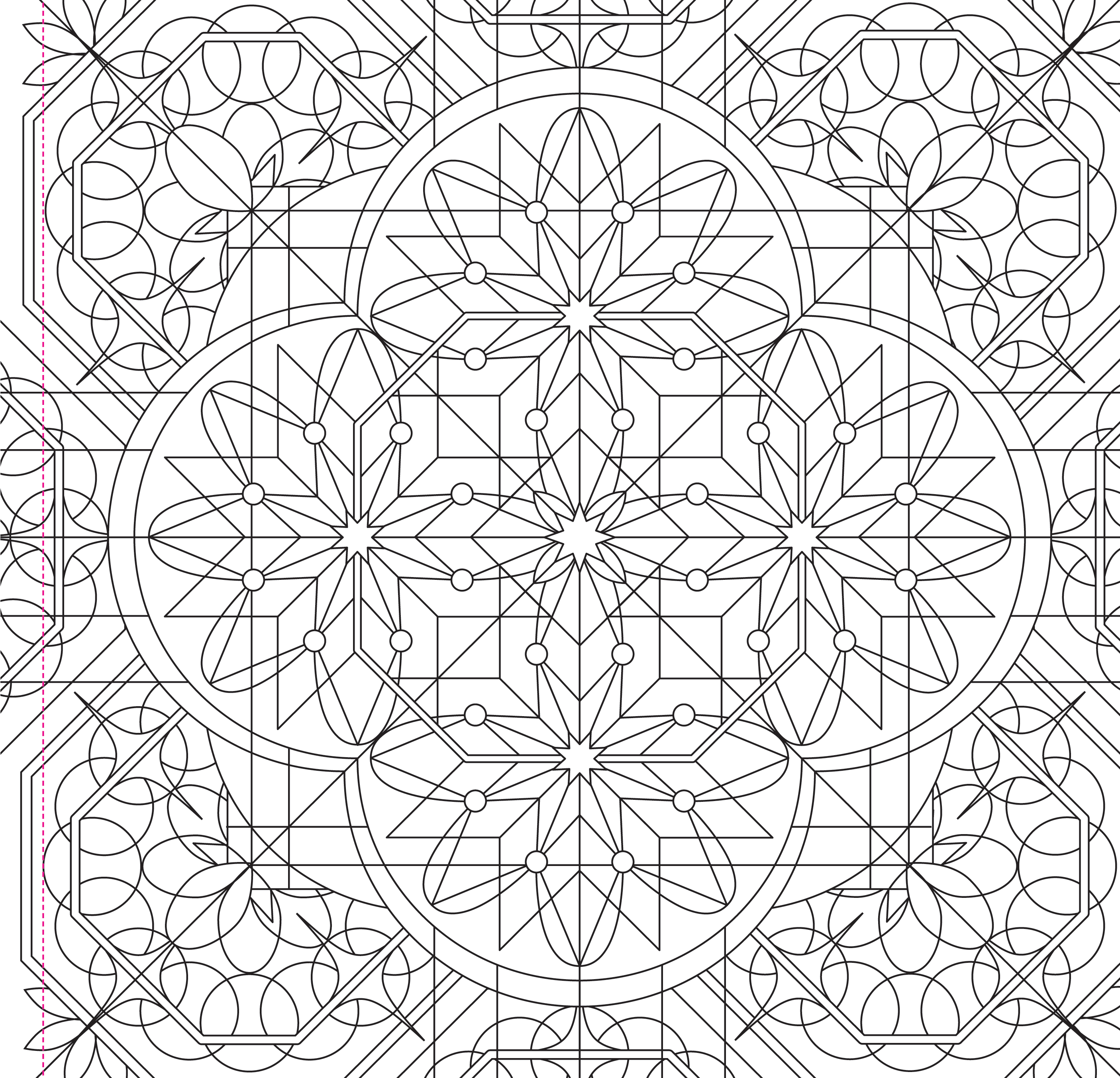 kaleidoscope designs free coloring pages - photo#41