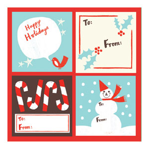 Presents and Ornaments Book of Holiday Labels