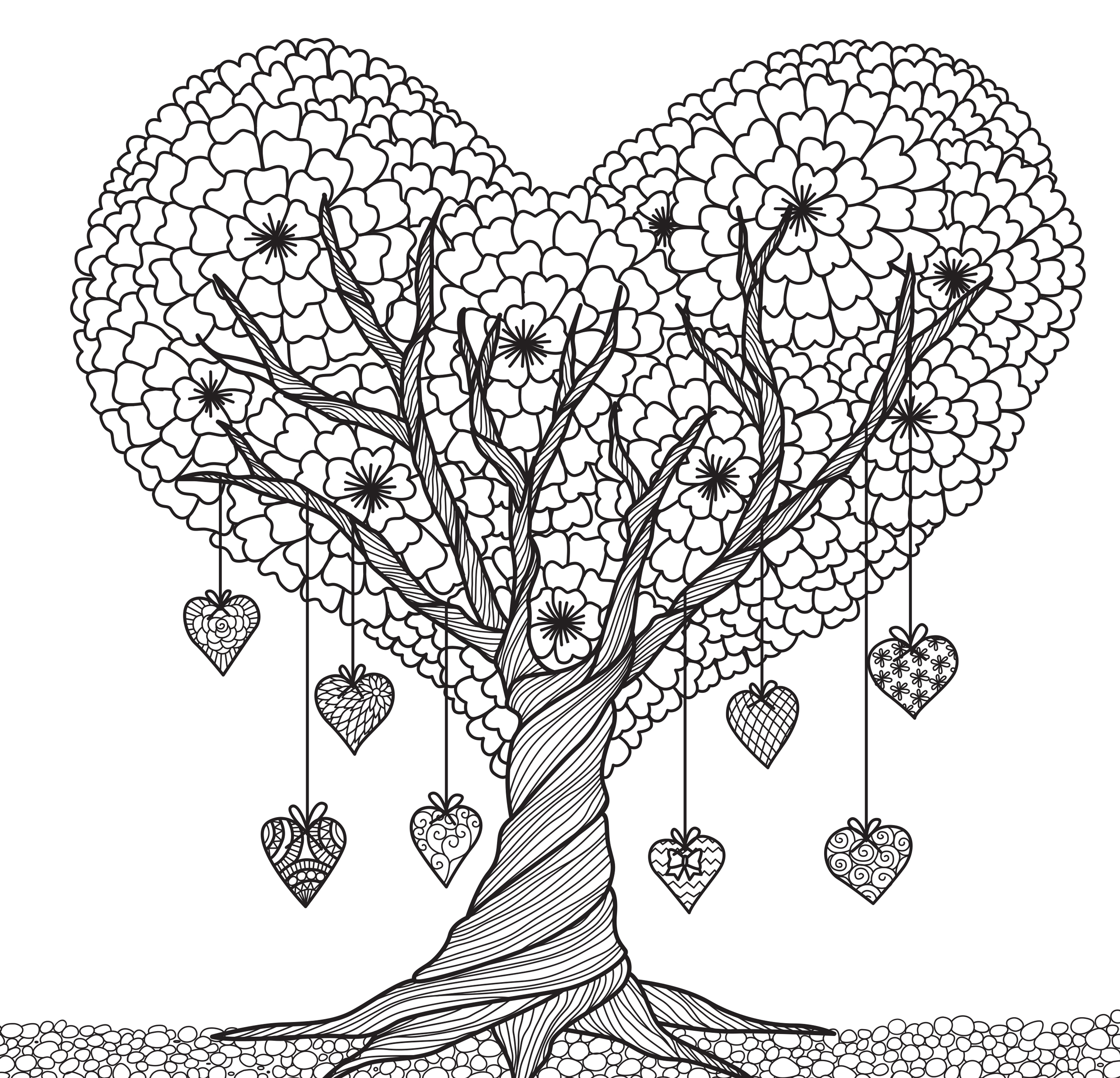 Tranquil Trees, Coloring Book - paperme.se