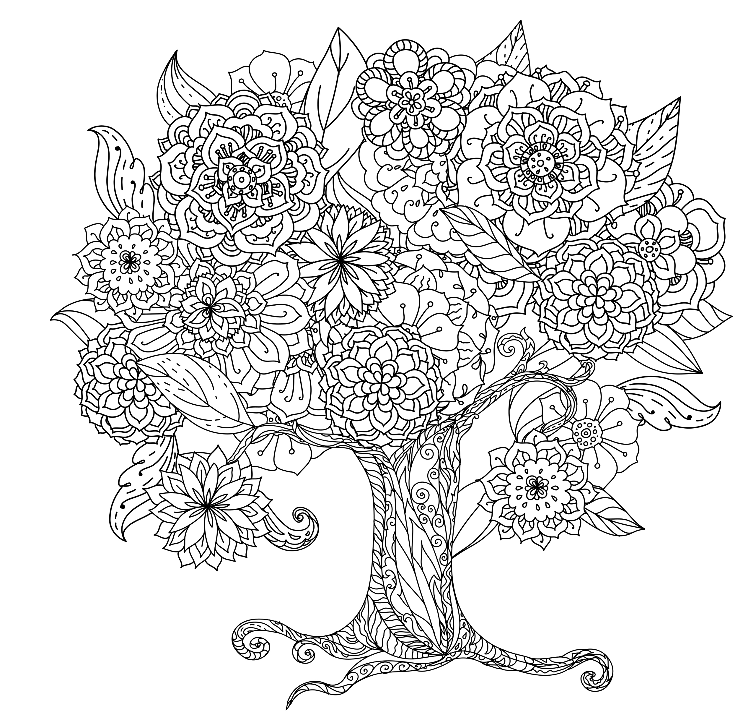 Tranquil Trees Coloring Book