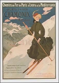 Sports d'hiver.Chamonix (Mont-Blanc) (1905), Postcard