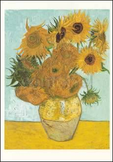Vase with Sunflowers (1888), Greeting Card