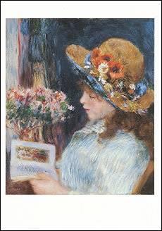 Reading Girl (1886), Greeting Card
