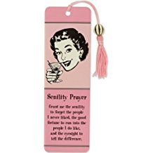 Beaded Bookmark, Senility Prayer
