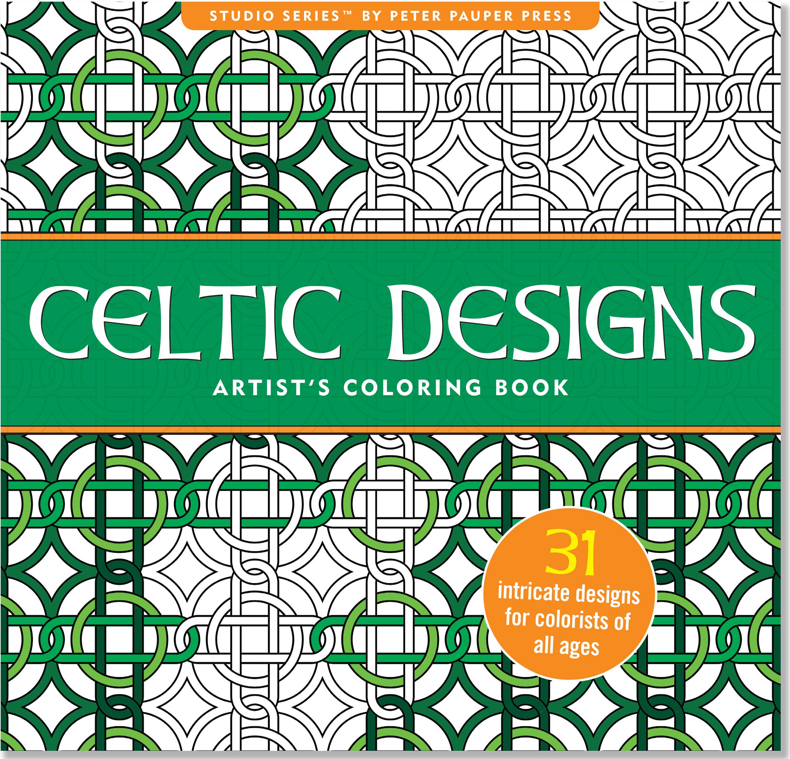 Stress relief coloring books disney - Celtic Designs Artist S Coloring Book