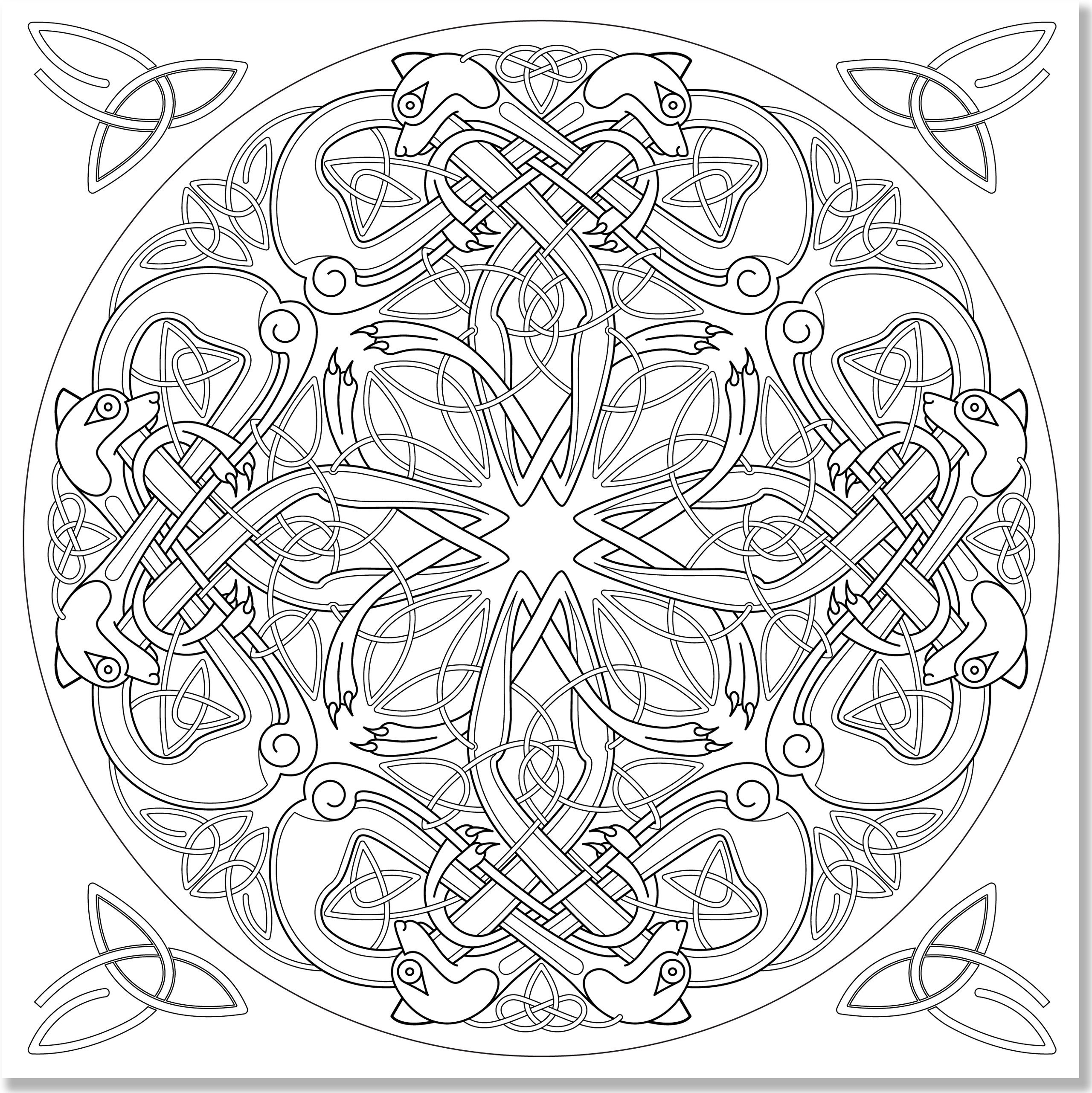 Celtic Designs Artists Coloring Book