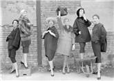 Models at the London docks, Vogue 1957, Postcard