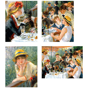 Renoir Boating Party Keepsake Box Note Cards