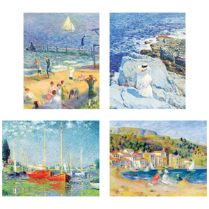 Impressionists By The Water Keepsake Box Note Cards