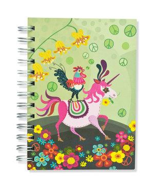 Unicorn, Spiralbunden Anteckningsbok, 80 sidor