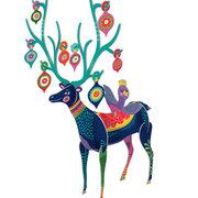 Folksy Reindeer Large, Pop & Slots-Xmas Large