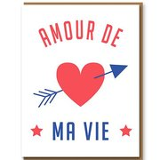 Amour De Ma Vie, Greeting Card