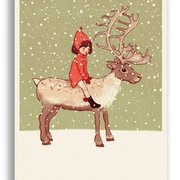 Me and My Reindeer, Belle & Boo Playtime Xmas Postcard