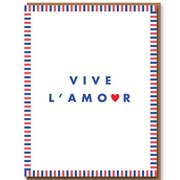 Vive L'Amour, Greeting Card