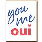 You Me Oui, Greeting Card