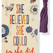 Beaded Bookmark SHE BELIEVED SHE COULD