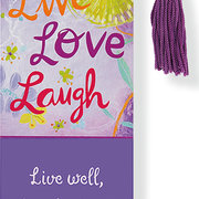 Beaded Bookmark LIVE, LOVE, LAUGH