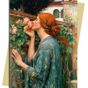 W.Waterhouse/The Soul of a Rose, Greeting Card
