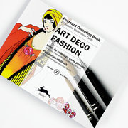 Art Deco Fashion, Postcard Colouring Book