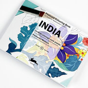 India, Postcard Colouring Book