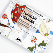 Turkish, Postcard Colouring Book