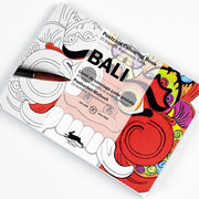 Bali, Postcard Colouring Book