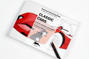 Classic Cars, Postcard Colouring Book