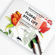 Floral Still Life, Postcard Colouring Book