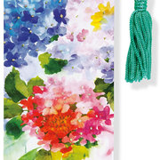 Beaded Bookmark, Hydrangeas