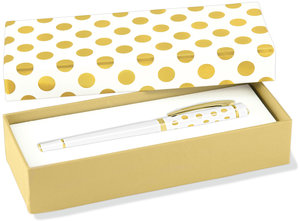 Fine Designer Pen, Gold Dots