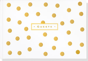 Guest Book Gold Dots