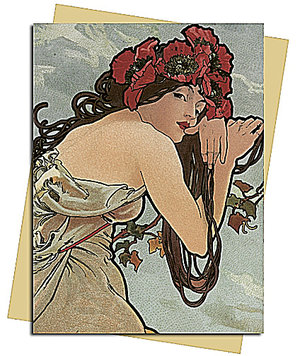 Summer (Mucha) Greeting Card