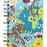Travel, Spiral Bound Notebook, 80 sheets