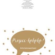 Prosecc-hohoho!, 8 Mini X-mas cards, Pack