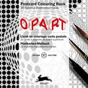 Op Art, Postcard Colouring Book