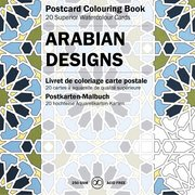 Arabian Designs, Postcard Coloring Book
