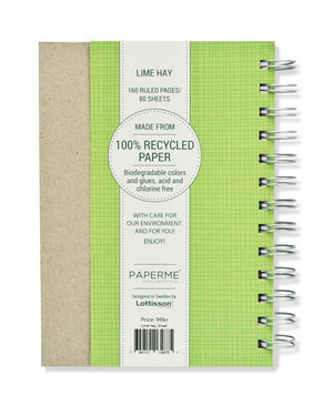 Lime Hay, Spiralbunden Anteckningsbok, 80 sidor