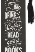 Coffee & Books Beaded Bookmark