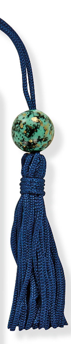 Peacock, Beaded Bookmark