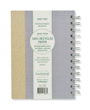 Grey Hay, Spiralbunden Anteckningsbok, 80 sidor
