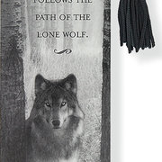 Beaded Bookmark, Wolf
