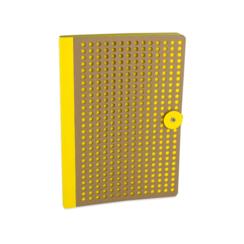 Yellow/ Kraft Full Circle, B5 Notebook