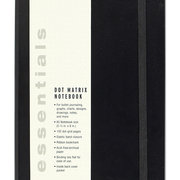 Essentials Large Black Dot Matrix Notebook