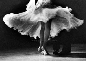 Legs of the ballroom dancers, Dubbelvikt Kort