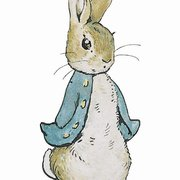 Peter Rabbit standing minicard