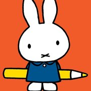 Miffy with Pencil, Greeting Card