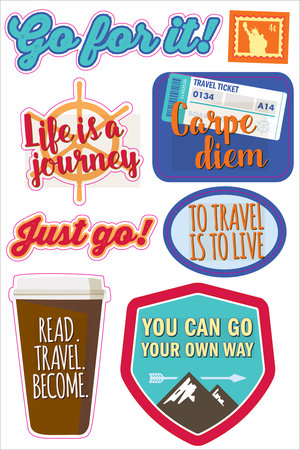 ESSENTIALS PLANNER STICKERS TRAVEL