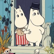 Moomin Riviera front door, Greeting Card